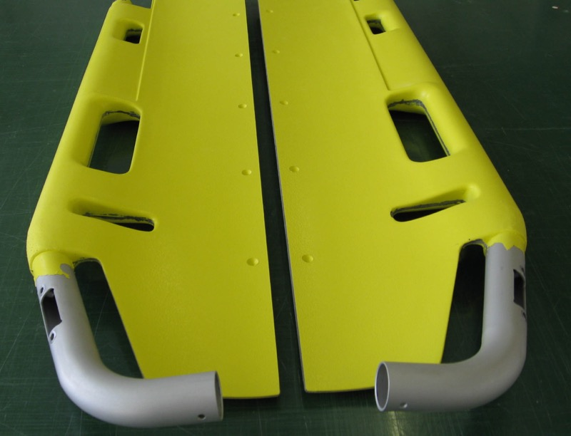 Stretcher by Aerolite for rescue helicopter. Small series production in carbon fibre.
