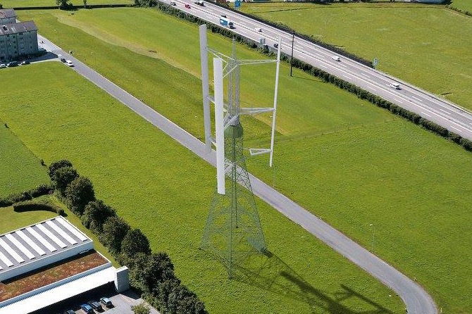 Vertical Sky, Vertical wind turbine by Agile Wind Power. Cooperation on the structural design of the rotor wings.